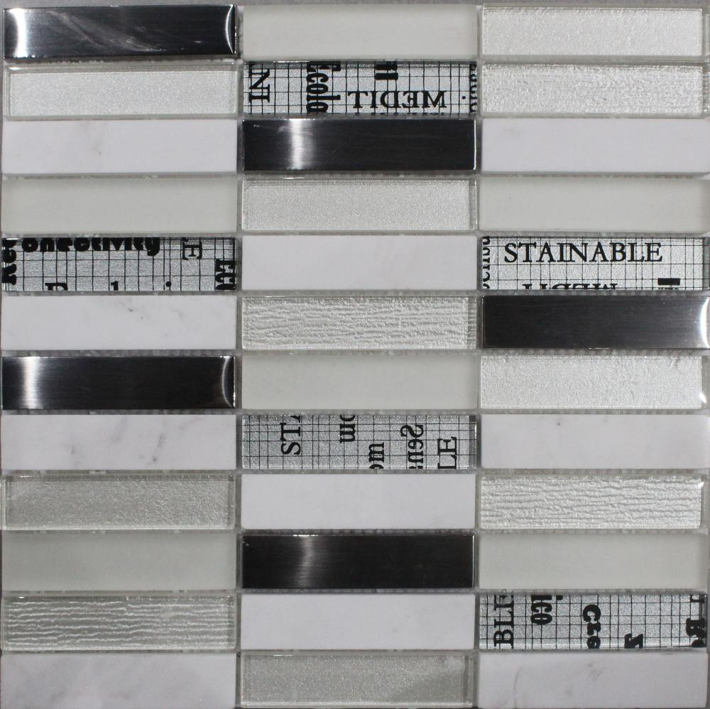New USA Style White Glass Mosaic Tile