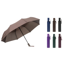 3 Folding Pongee Short Handle Iron Pure Color Outdoor Umbrella/ Rain Umbrella for Advertising