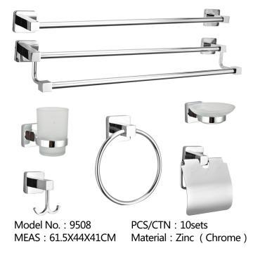 Bathroom hardware set chrome bathrobe hook bar towel ring paper towel rack soap dish toilet brush rack bathroom accessories