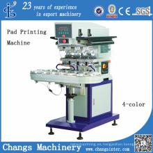 Máquina de impresión automática del cojín del color del espionaje 4 con el transportador