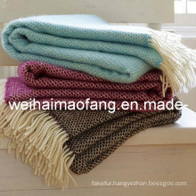 Pure Merino Wool Throw Blanket (NMQ-WT048)