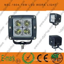 Luz de trabajo LED CREE cuadrada de 3 pulgadas y 16 W, conducción automática fuera de la carretera, luz de cabeza antiniebla 12 / 24V DC