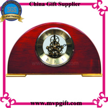 Reloj de mesa de madera para el regalo de la promoción
