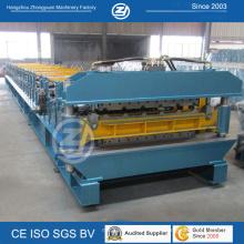 Double couche en aluminium formant la machine pour le panneau de toiture de 900mm 1000mm