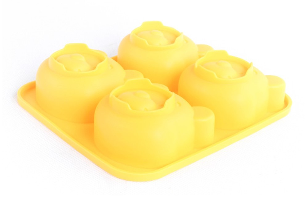 4-Cavity Bear Silicone Cake Mold Chocolate Candy Baking (7)