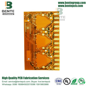 "Placage d'or 30U ""1OZ 2 couches Flexible board BentePCB"