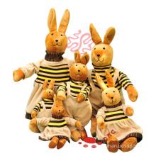 Lustiges gefülltes Plüsch-Familien-Kaninchen-Plüsch-Geschenk