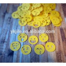 Party popper avec des confettis emoji