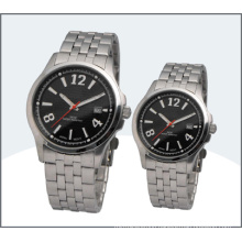 Stainless Steel Lover Watch, Quartz Couple Watches (15168)