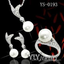 925 de plata esterlina de agua dulce conjunto de perlas (YS-0193)