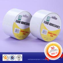 Crochets de film acrylique et distributeurs de savon Ruban adhésif double face blanc imperméable à l'eau