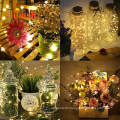 LED String Lights,Christmas Decorations Lights 100 LED Powered Warm White/Four Colors Dimmable Copper Wire String Lights