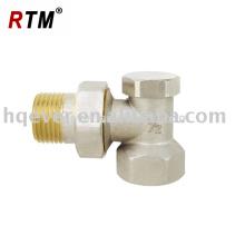 Forged brass angle radiator valve with lockshield