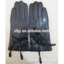 2015 stylish wool lined women leather gloves