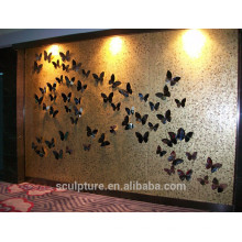 Hotel Innendekoration / Wandrelief / Metallrelief