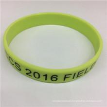 Fashion Simple Printed Single Color Customized Silicone Bracelet