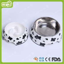 Меламиновая чаша из коровьего молока с чашей из нержавеющей стали