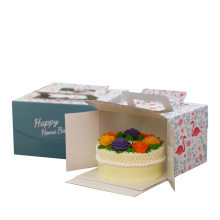 Birthday Cake Box Handgehaltenes Transparent Elfenbein Board