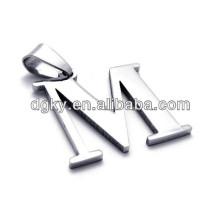 Colares de aço inoxidável 26 Colares Pingentes de letra do alfabeto