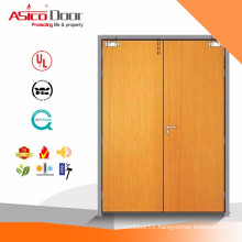 Solid Wooden Fire Rated Simple Double Door Designs With BM TRADA