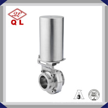 China Made SMS Weld Pneumatic Stainless Sanitary Butterfly Valve
