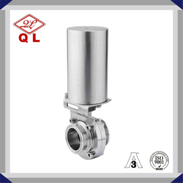 Sanitär Pneumatisk Clamp End Butterfly Valve