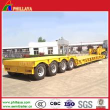 Front-loading abnehmbaren Schwanenhals 3axles niedrigen Boy Semi Truck und Trailer