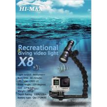 Fabrik Preis 1000 Lumen Unterwasseratemgerät Tauchen Video Licht