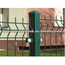 Valla de metal al aire libre revestida del PVC de la energía
