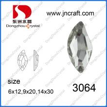 Perlas de la joyería del Rhinestone de la forma de S para el paño de costura (DZ-3064)
