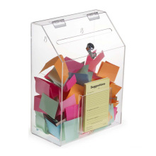 Wall Mounted/Tabletop Ballot Clear Acrylic Charity Donation Box with Lock