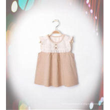 Schönes Bio-Baumwoll-Mädchen-Kleid mit Fashion Design aus China