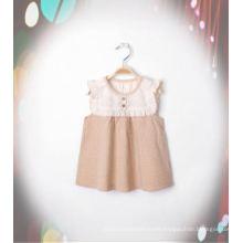 Beautiful Organic Cotton Girl Dress with Fashion Design From China