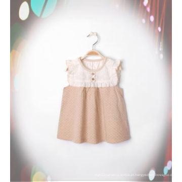 Vestido de menina lindo algodão orgânico com Design de moda da China