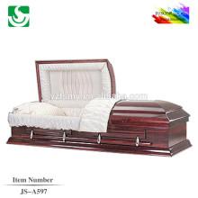 Cercueil de beaux bas pin massif prix JS-A597