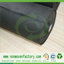Tissu noir de contrôle de Weed de tissu de polypropylène non tissé