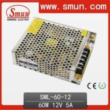 Fuente de alimentación de conmutación de 60W 12V (SMPS) para la iluminación de la tira del LED