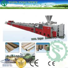 PVC / PE / PP Wood Plastic Profile Ligne de production