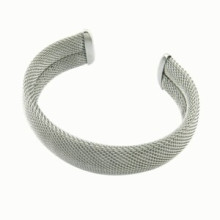 Aço inoxidável personalizado ajustar bracelete de metal