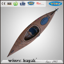 Chinese Wooden Style Single Sit in Plastic Kayak