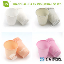 Green plastic 5oz dental disposable cups