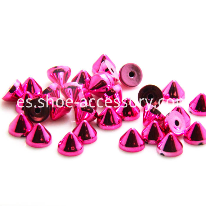 Fushcia Rivet Back Studs
