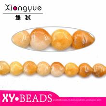 15 mm jaune Agate naturelle perles vente en gros bijoux de pierre gemme