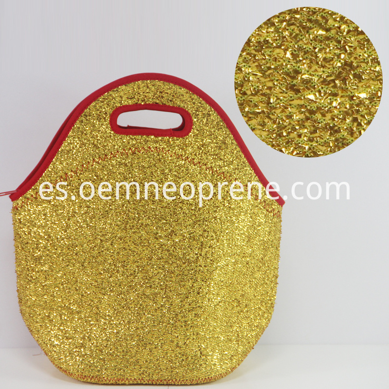 Detail of Lunch Bags with Golden Sequins