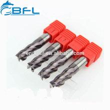 Изготовление BFL с плоским днищем, цельная твердосплавная 4-канальная фреза с длинным хвостовиком