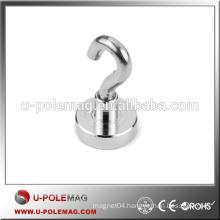 Magnetic Hooks D16mm N35 Neodymium Magnet Hook 8 pound