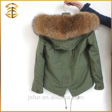 Wholesale Colorful Long Winter Coats Women Faux Fox Fur Parka