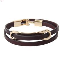 Spring Season Fashion New Style Personality T Clasp Women Leather Wrap Bracelet