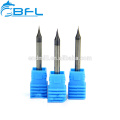 BFL Solid Carbide Micro Diameter Miniature End Mill 0.1mm Altin Coated