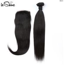 Melhor Venda por atacado os fornecedores do cabelo do Virgin, cabelo humano não processado do Virgin cru brasileiro com fechamento frontal do laço